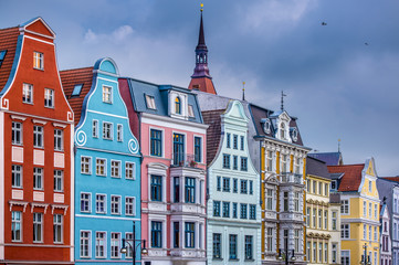 Rostock, Germany in the Historic District Fototapete