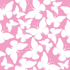 seamless butterflies - illustration, vector