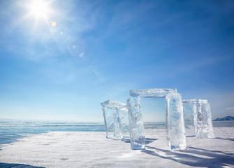 Wall Murals Arctic Icehange - stonehenge made from ice
