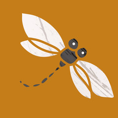 Dragonfly icon. Vector art