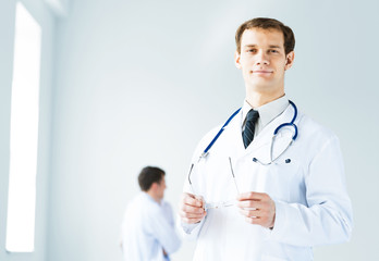 portrait of successful young doctor