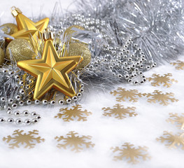Golden and silver  Christmas decorations