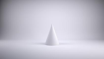 Cone. Gray background