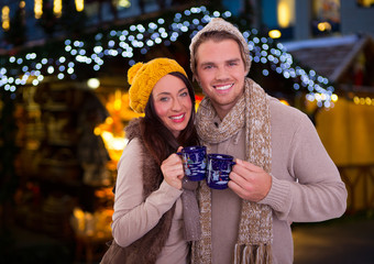 couple on christmas market