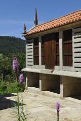 the granary, barn typical granite galicia