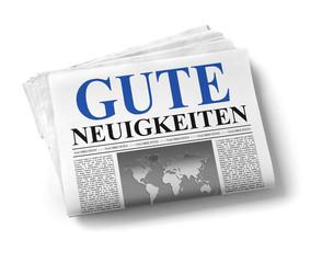 Zeitung mit guten Nachrichten