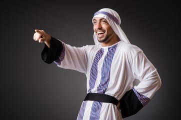 Arab in the dark room