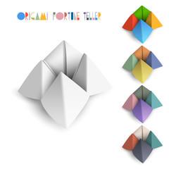 Colorful origami Fortune Teller