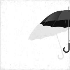 Vector black umbrella on grunge background