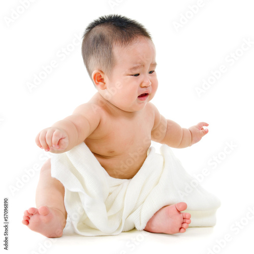 Asian Baby Crawling Stock Photos, Pictures & Royalty-Free