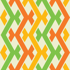 Poster ZigZag colorful seamless pattern