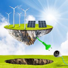 Green energy.  Renewable resources concept.