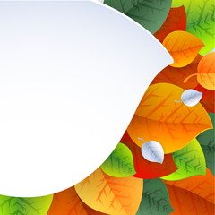 Autumn background for fabric, web, print. rainbow colors