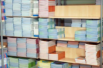 School library - books on the shelves