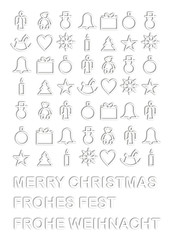 weihnachtliche Symbole