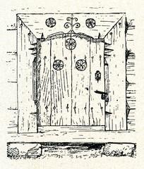 Old barn doors (Latvia)