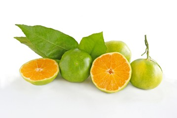 green mandarines