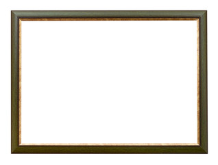 green and gold flat horizontal picture frame