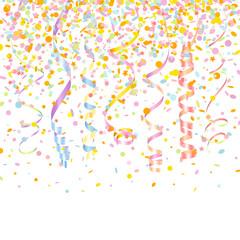 7 Streamers & Confetti Stars Pastel Mix