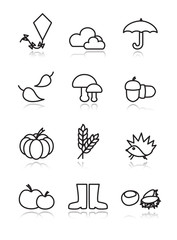 Autumn vector icons
