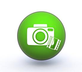 camera sphere icon on white background
