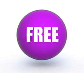 free sphere icon on white background