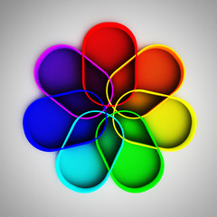 Rainbow colored figure