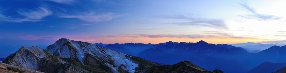 白馬岳からの眺め