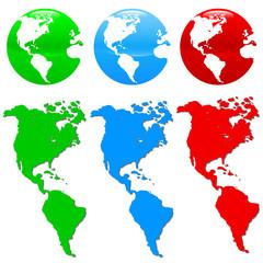 Colorful earth icon set