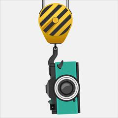 Lifting hook with camera