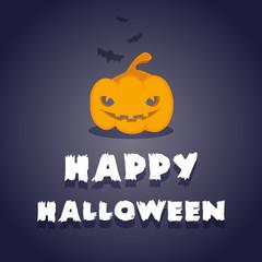 Happy Halloween: pumpkin and bats
