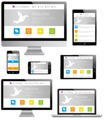 Responsive Design - Computer, Laptop, Tablet, Smartphone
