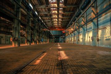 Papiers peints Affiche vintage Dark industrial interior