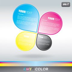 CMYK Drop text Box