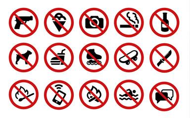 Forbidden signs