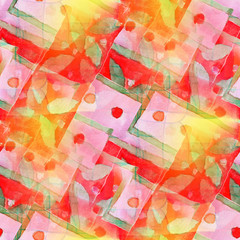 artist red green seamless cubism abstract art Picasso texture wa