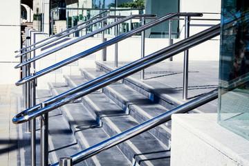 Beautiful stainless steel railings