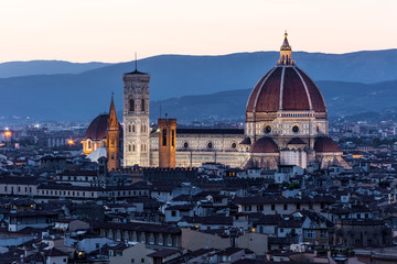Cathedral Santa Maria dei Fiore at night, Florence