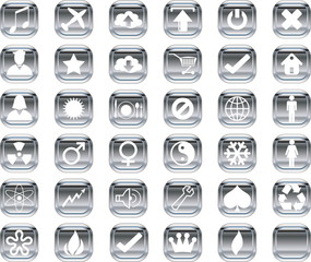 Silver icons