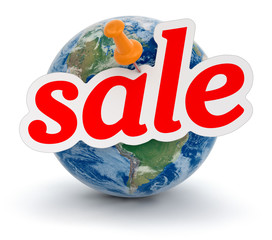 Globe and Sale (clipping path included)