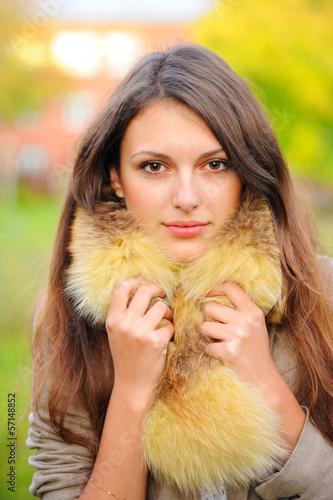 фото девушек любительские в шубе