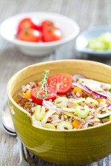 Wild rice salad with vegetables