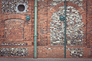 Pipes and wall