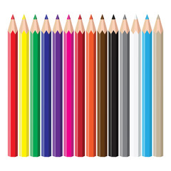 Coloured pencils.