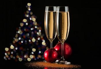 Decorazione Natalizia e Champagne