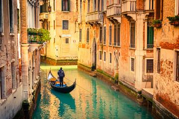 Türaufkleber Gondeln Canal in Venice