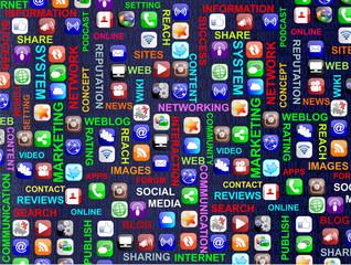 Social Media Digit Concept