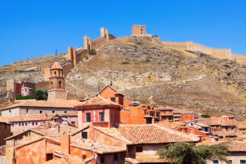 Albarracin with ancient fortress wall