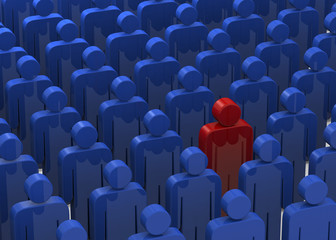 CROWD OF USERS - 3D