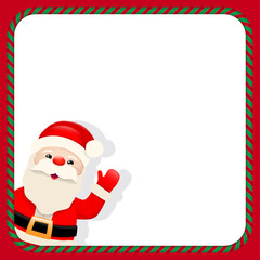 Santa Claus in christmas frame